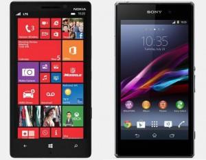 nokia lumia 1320 sony xperia z comparison