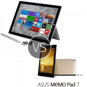 Microsoft Surface Pro 3 vs Asus Memo Pad 7 – Best Prices and Top Specifications