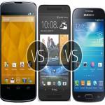 Samsung Galaxy S4 (Value Edition) vs Nexus 4 vs HTC One Mini