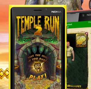Temple Run on Window Phone 8.1 Free Download and installation