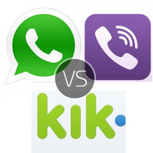 Download Kik Messenger for PC vs WhatsApp for PC update vs Viber for PC version – which is the better IM client
