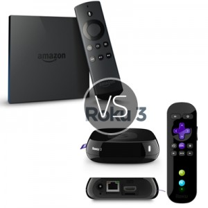 Roku 3 vs Amazon Fire TV – Which streaming device would you choose to buy