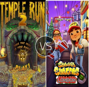 Subway Surfer emerging winner in the war against Temple Run games