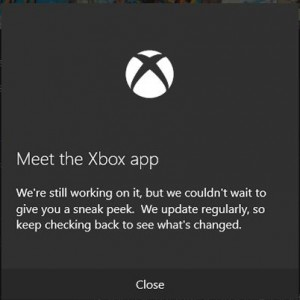 Windows 10 new XBOX Application with Cortana Integration