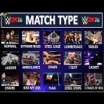 WWE 2k16 5 Match Types