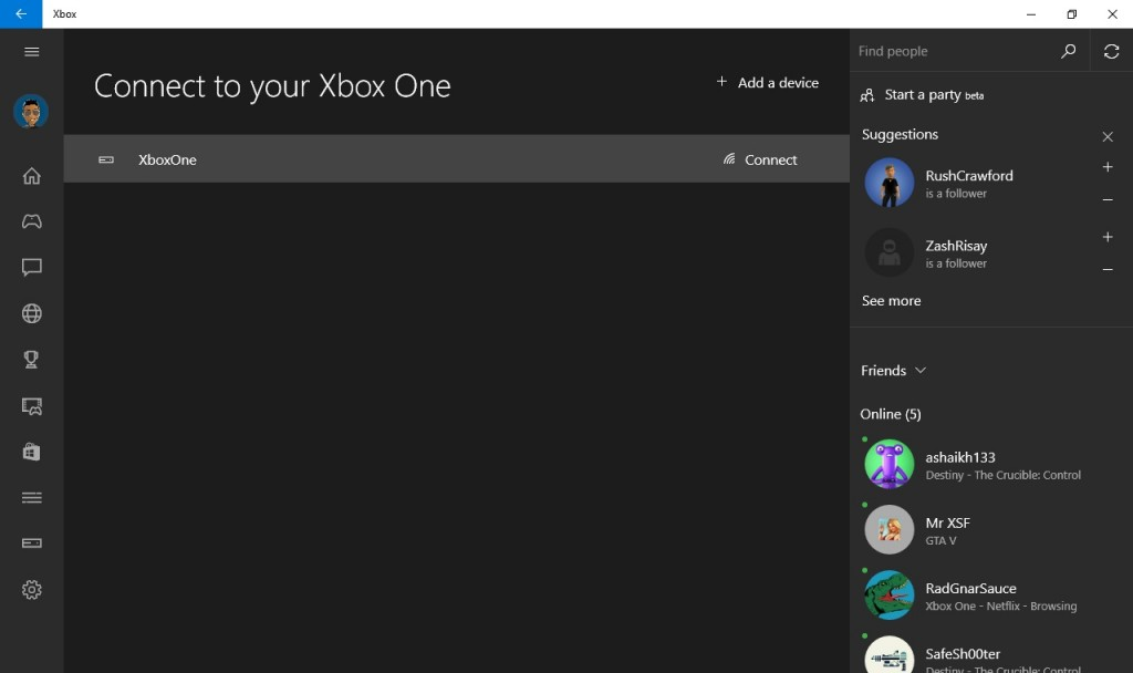 Connecting to the PC on the Xbox