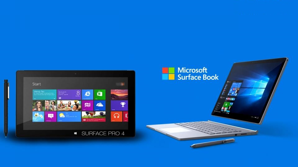 Microsoft Surface Pro 4 and Microsoft Surface Book