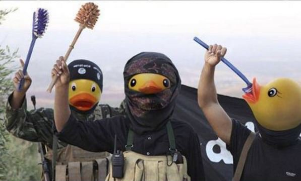 """ISIS 'Ducks' are everywhere"", says one troll post."