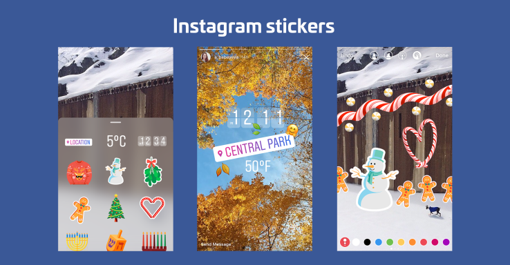 Instagram released some coolest holiday stickers that you can add them to your videos and photos.