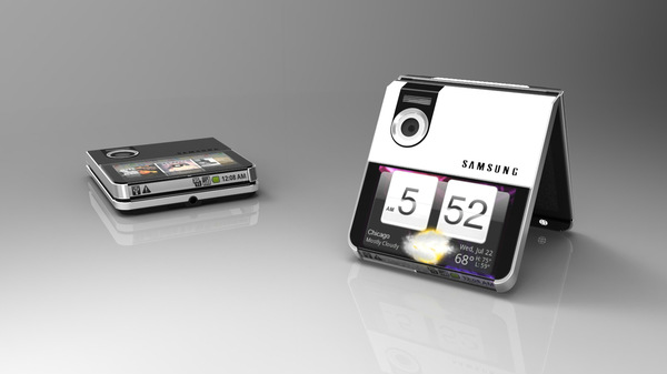 The upcoming smartphone with foldable Samsung display is a much more futuristic looking gizmo.